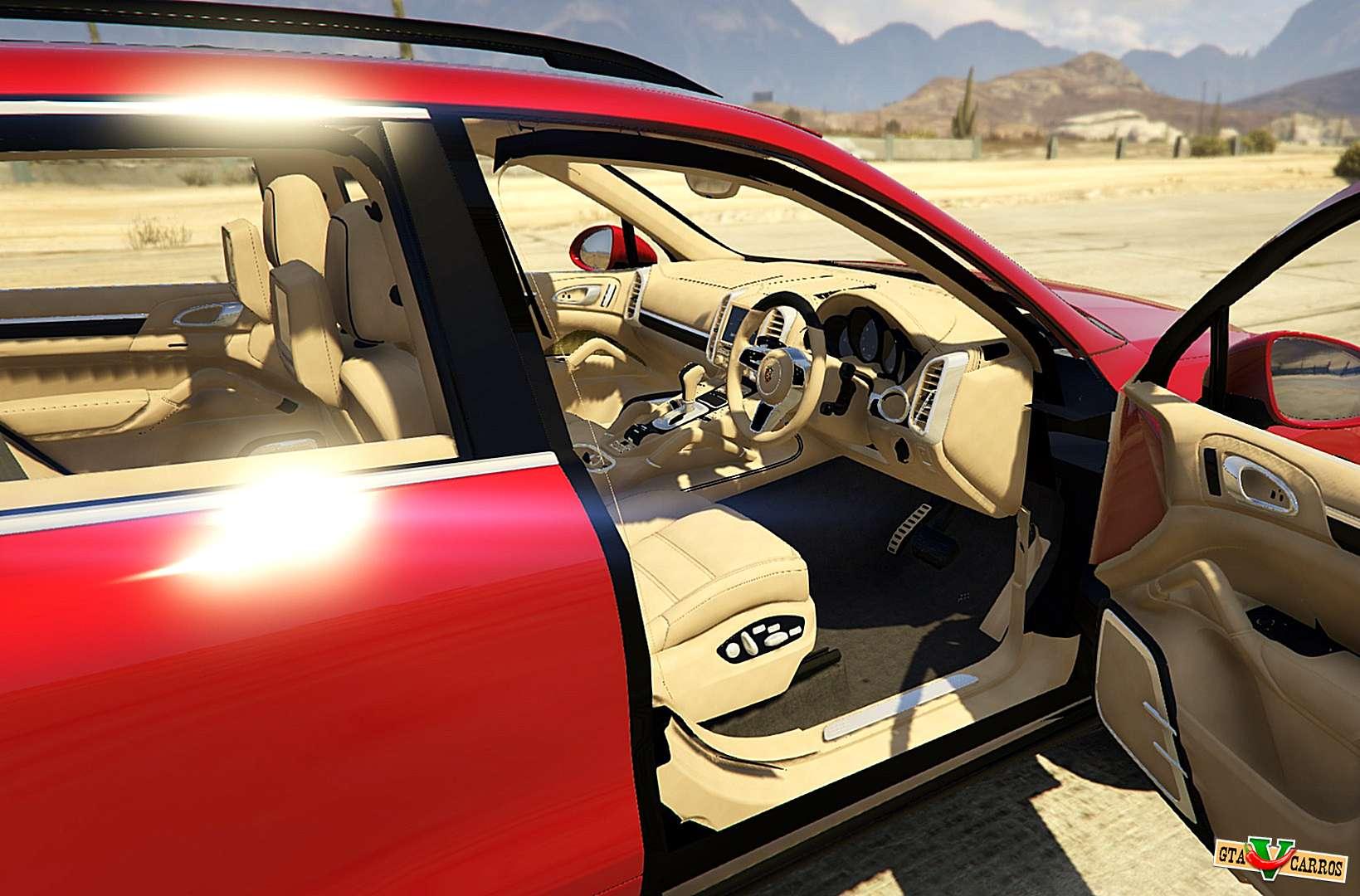 2016 porsche cayenne turbo s gts for gta 5 interior view